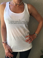#beunlimited - Tank Top - White/Silver
