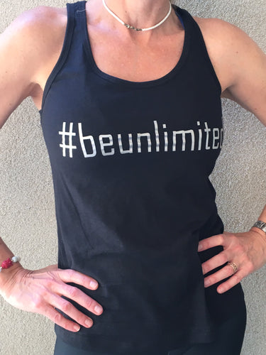 #beunlimited - Tank Top - Black/Silver
