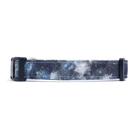 Black and Gray Galaxy Dog Collar