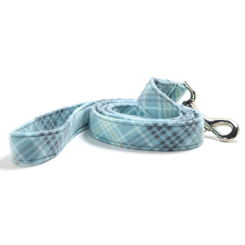 Blue and Gray Plaid Dog Leash