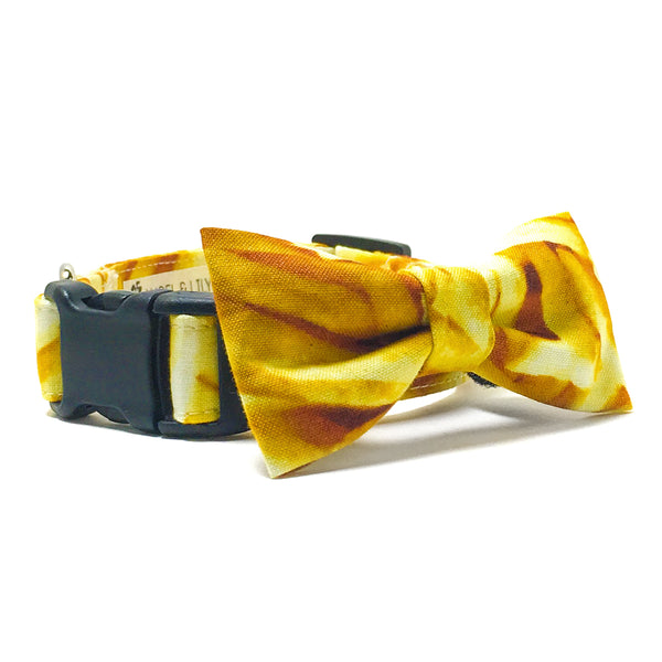 French Fries Dog Collar and Bow Tie Set