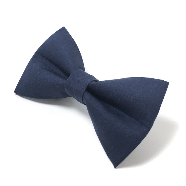 Navy Blue Dog Bow Tie