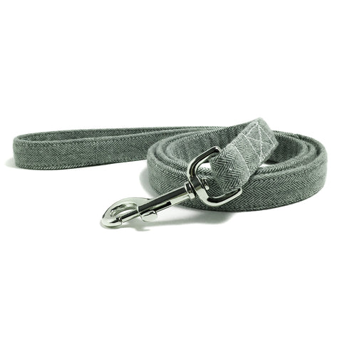 Olive Green Herringbone Dog Leash