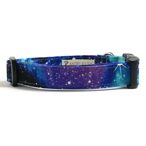 Blue and Purple Galaxy Dog Collar