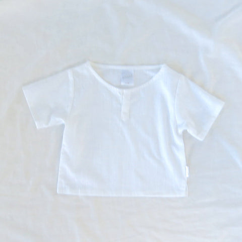 Breeze Shirt - White Slub Cotton