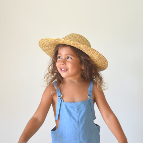 Voyager Shortalls - Mid Blue Denim