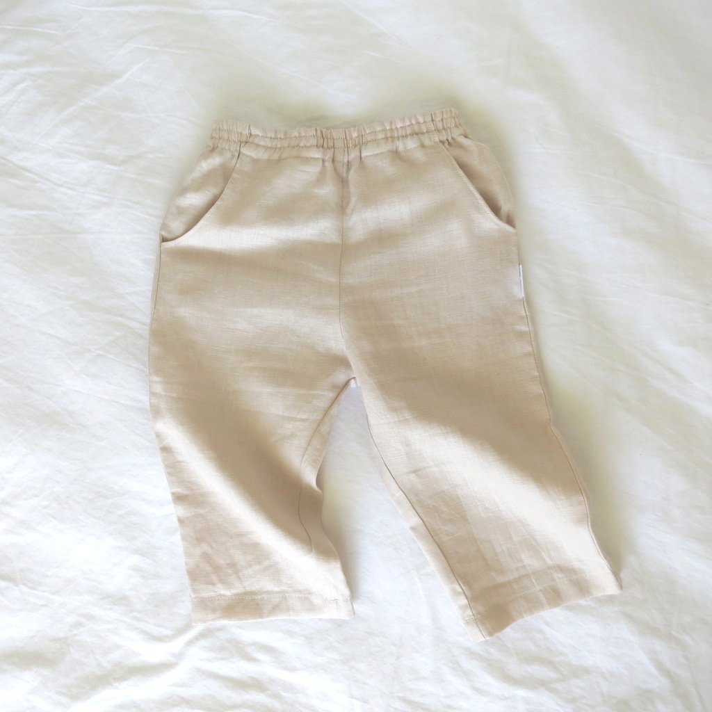 Drift Pants - Sand Linen
