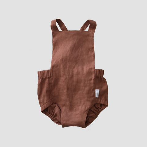 Signature Dune Romper - Walnut