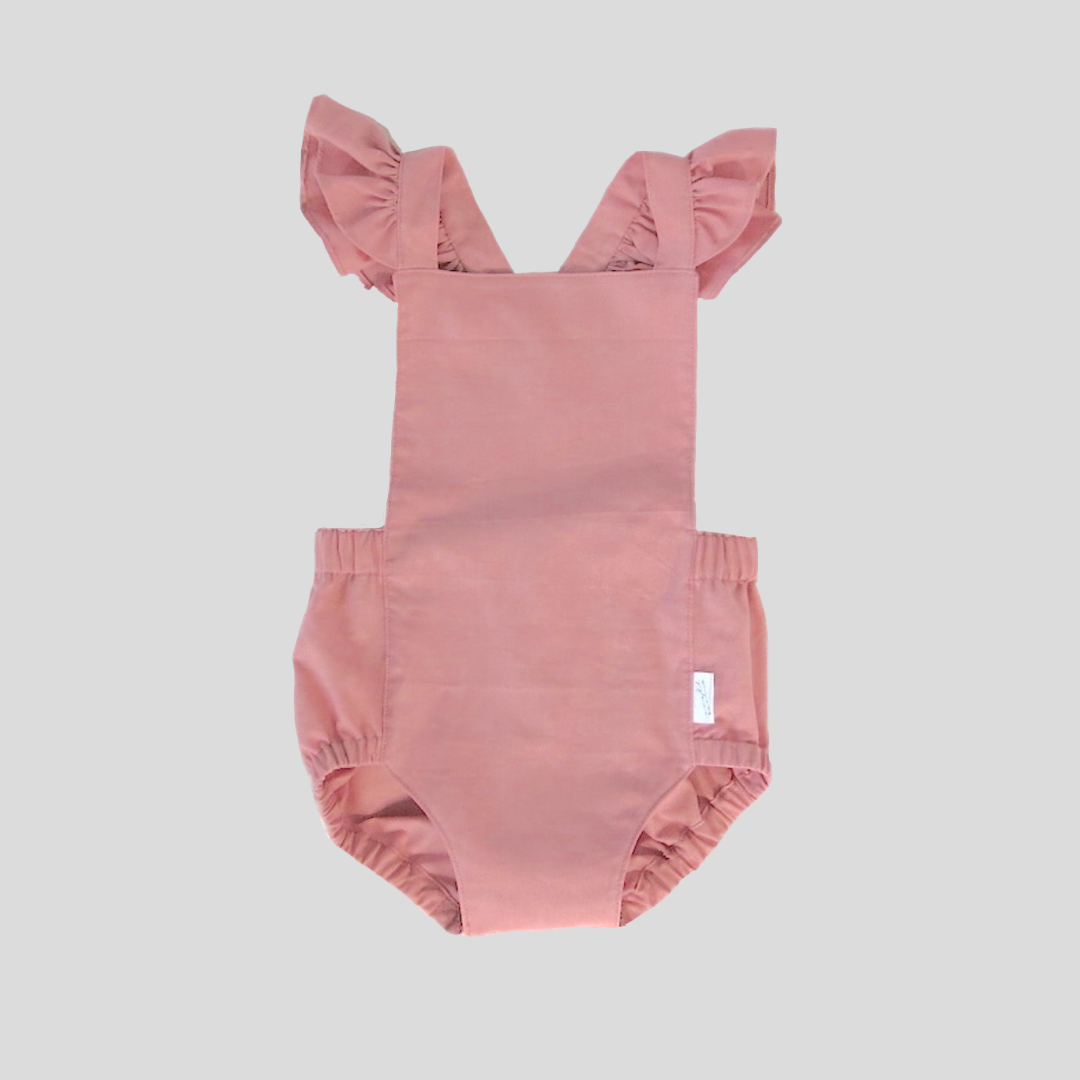 Signature Dune Romper - Dusty Rose with Ruffles