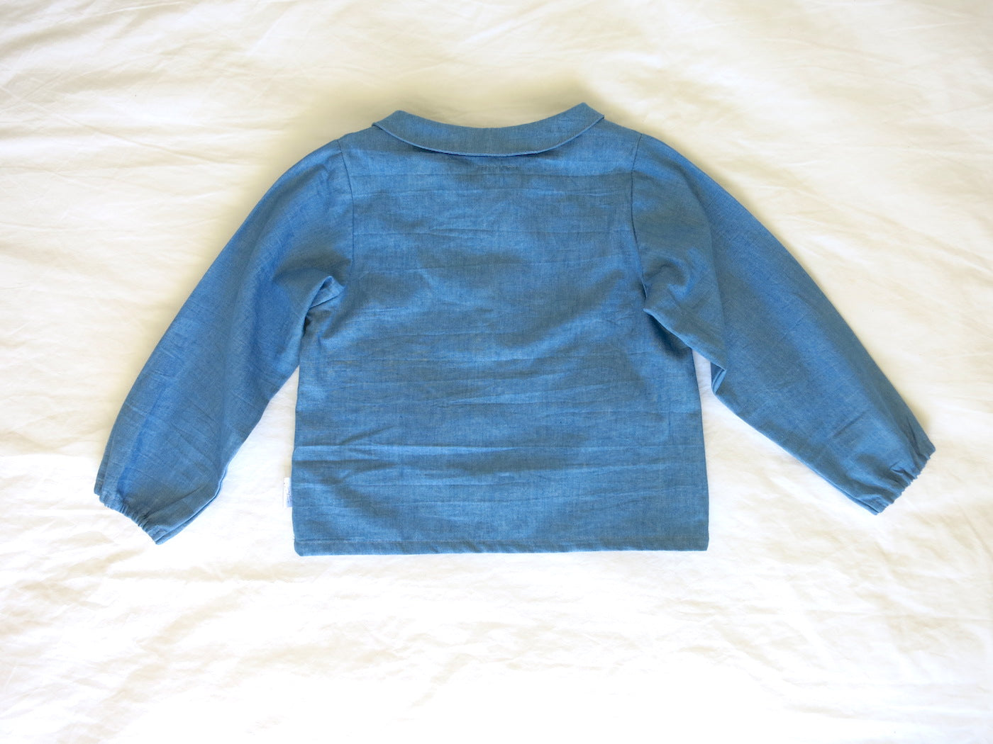 Lunar Blouse - Mid Blue Denim