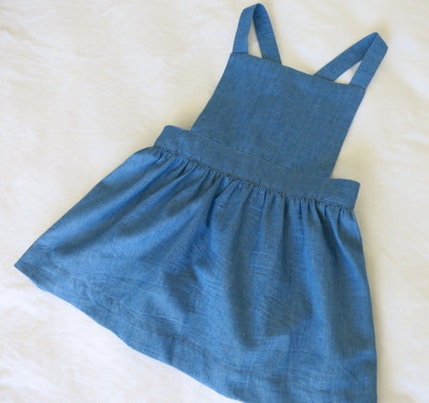 Periwinkle Pinafore - Mid Blue Denim