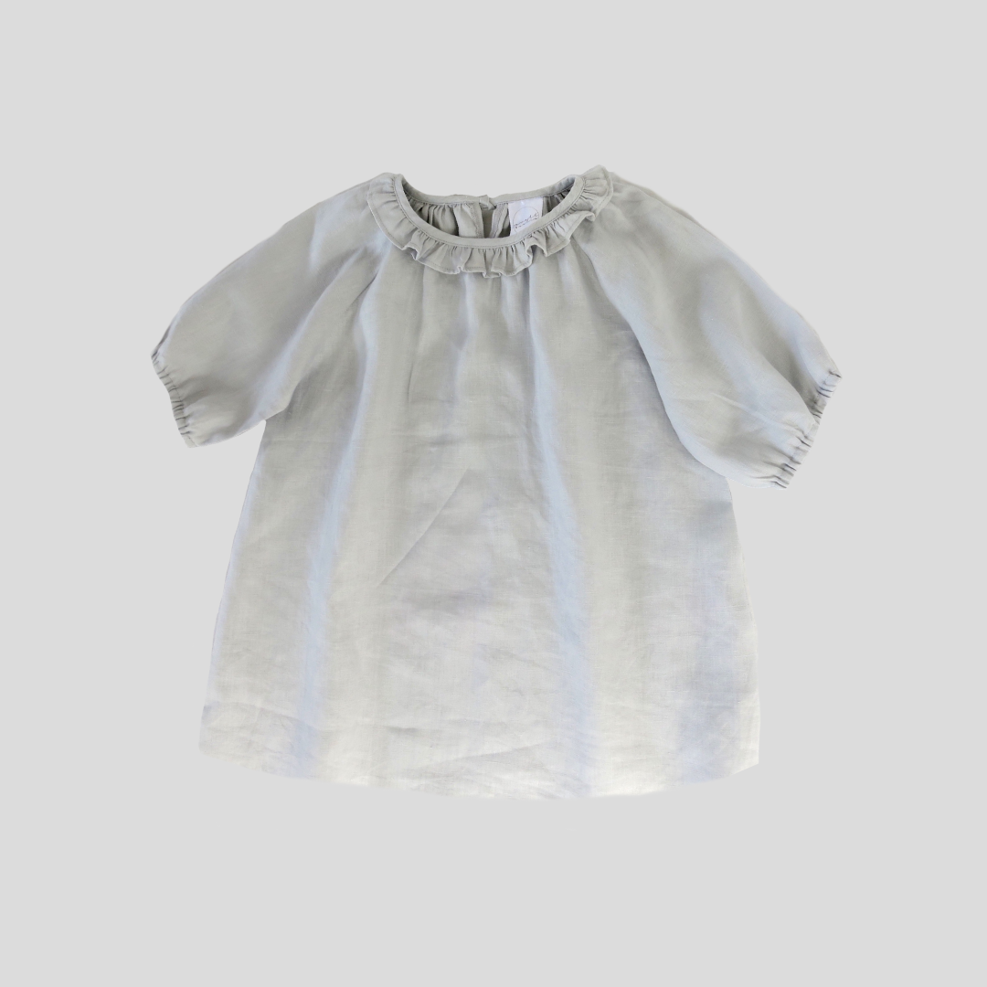 Sandpiper Smock Dress - Light Grey
