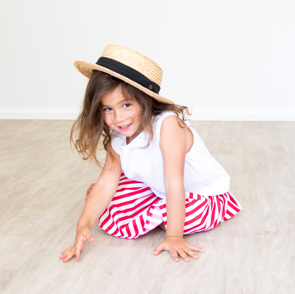Saltwater Skirt - Nautical Red Stripe