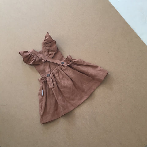 Periwinkle Pinafore - Walnut