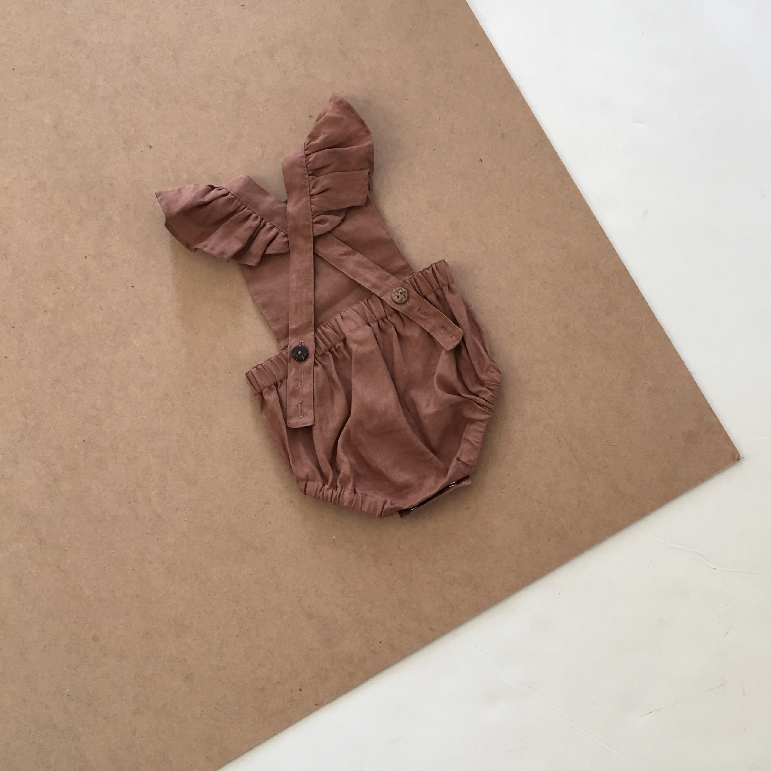 Signature Dune Romper - Walnut with Ruffles
