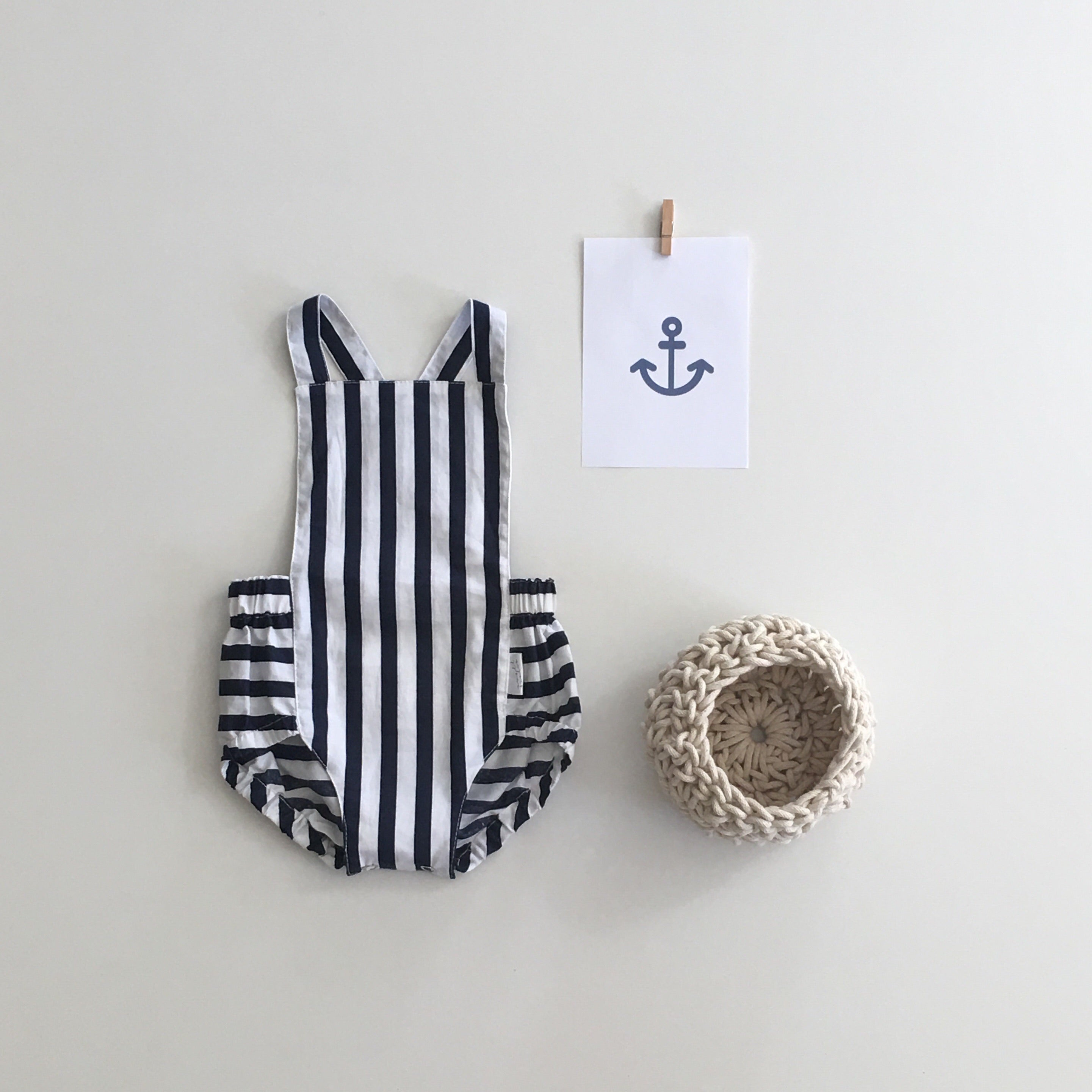Signature Dune Romper - Nautical Stripe