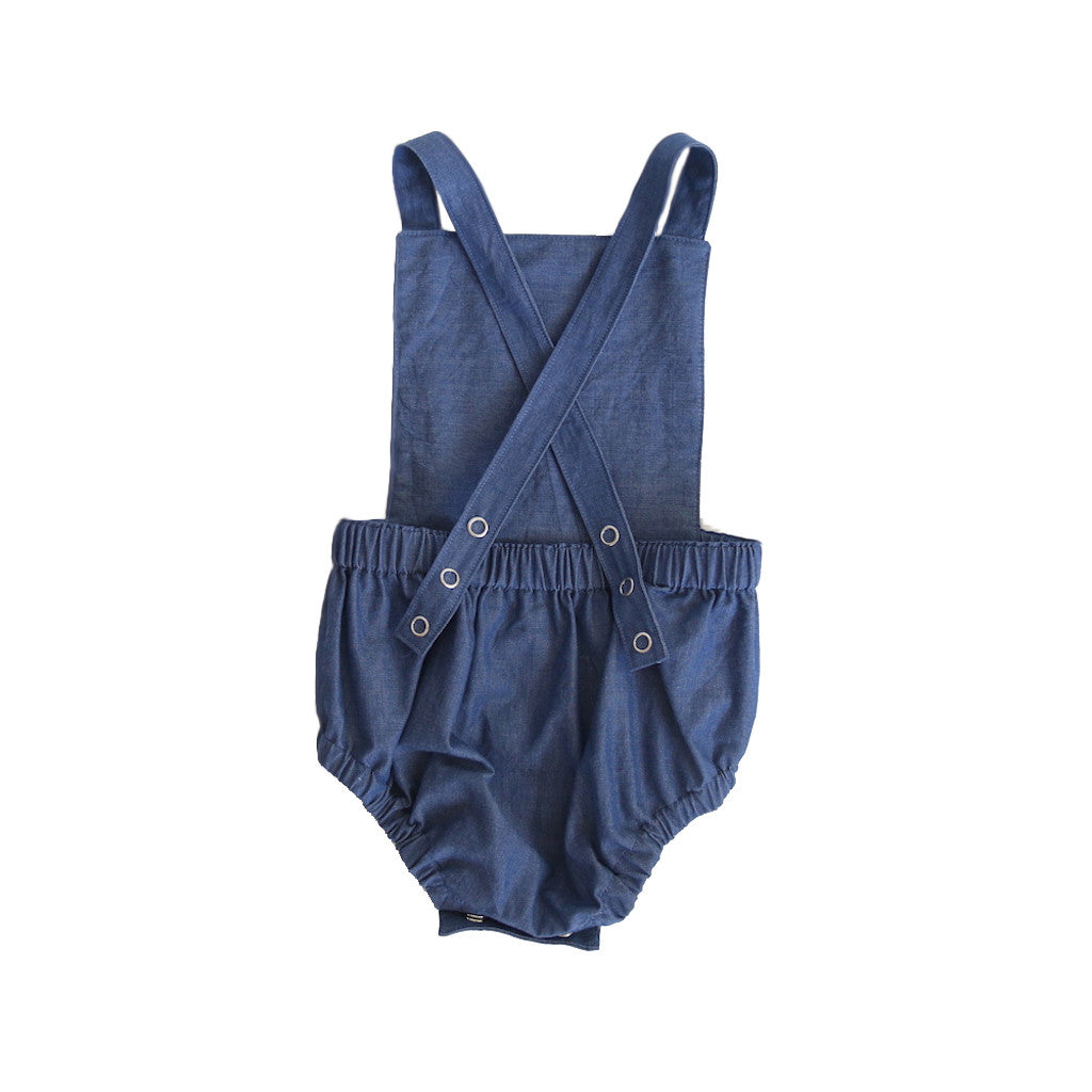 Signature Dune Romper - Blue Denim