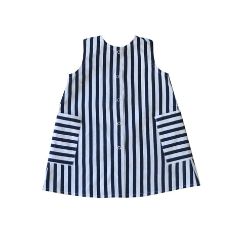 Promenade Dress - Nautical Blue Stripe