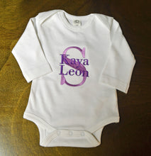 Purple, Green and White Baby Girl Outfit, Custom Made, Personalized
