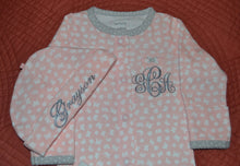 Pink, Grey and White Convertible Coverall/Gown, Personalized