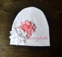 White Fancy Baby Gown and Hat Baby Girl, Personalized