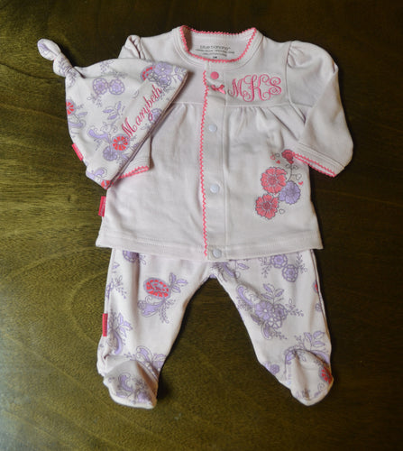 Pink and Purple Baby Girl Outfit, Personalized Baby Girl Going Home Outfit, Baby Girl Clothes, Baby Girl Coming Home Outfit, Baby Girl Outfits, Baby Girl Gift