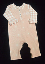 Pink and White Coverall and Hat Outfit Baby Girl, Custom Made, Personalized