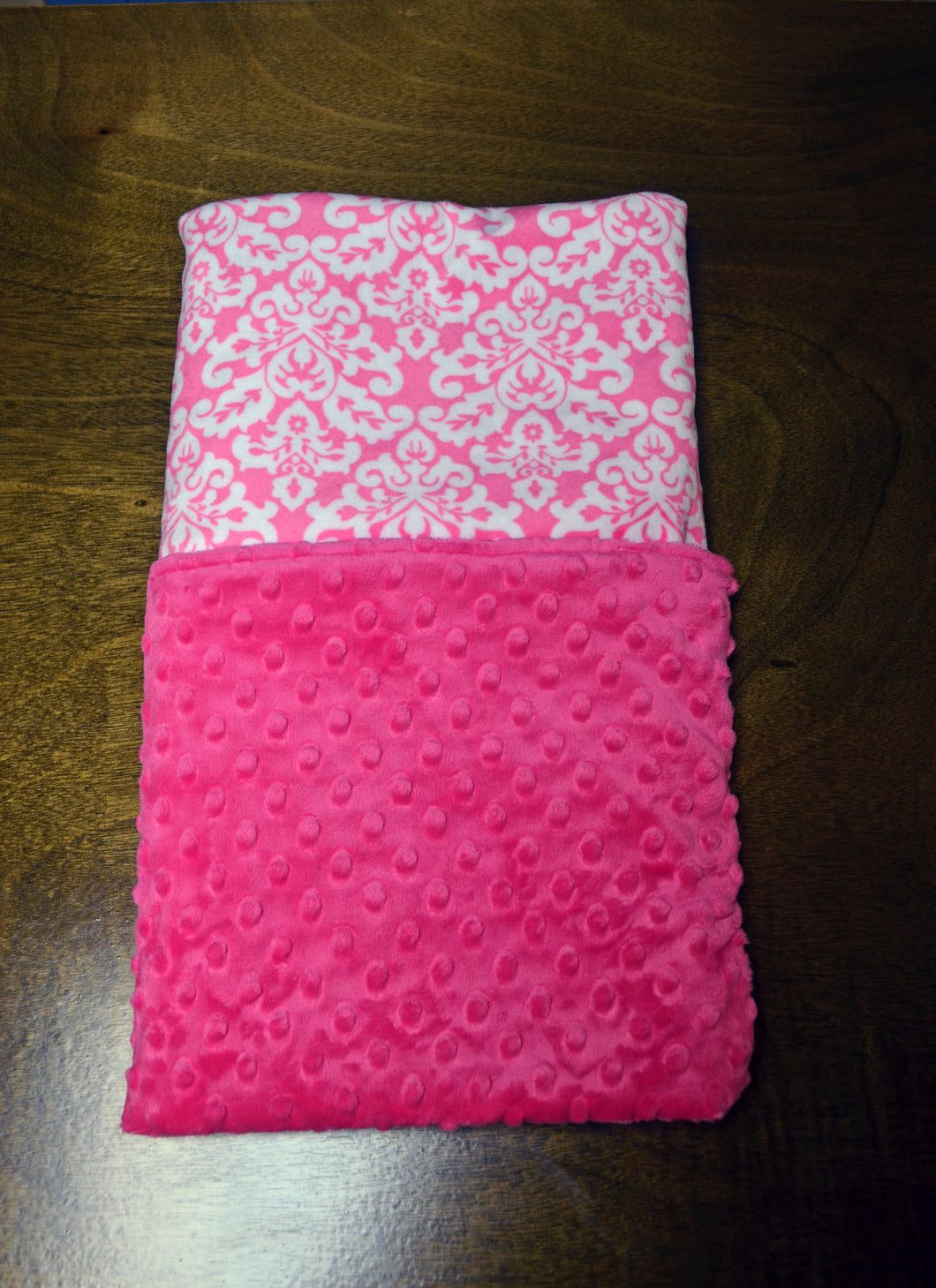 Personalized Pink and White Minky Baby Blanket-Baby Blanket-Baby Girl Blanket-Minky Baby Blanket-Going Home Blanket-Soft Baby Blanket