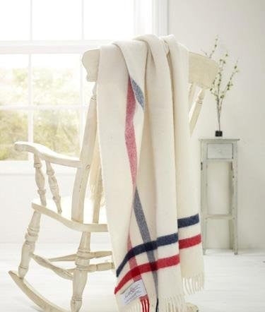 Albion Scarlet and Argent Heritage NZ Wool Throw