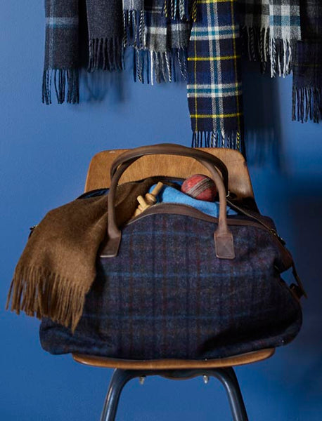 Yorkshire Tweed, Multi Check, Holdall Bag.