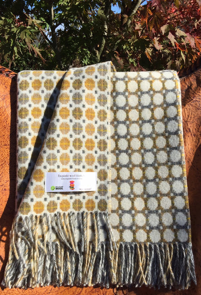 Milan Gold 100% Merino Wool Throw.