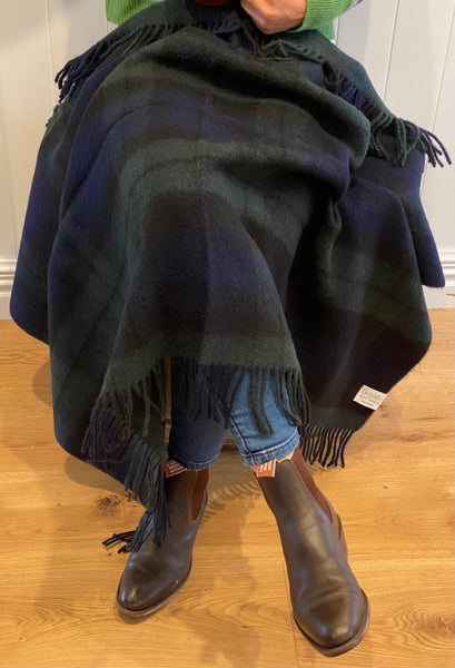 Black Watch Tartan Knee Rug Throw.