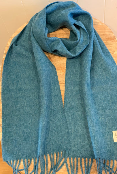 Plain 100% Merino Wool Scarf in Sky Blue.