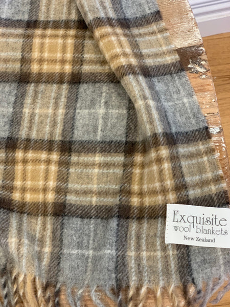 Dales Check 100% Merino Wool Scarf.