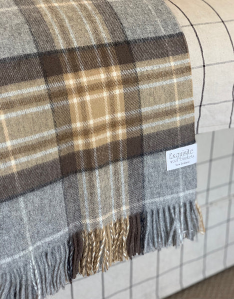 Country Check 100% Merino Wool Throw.