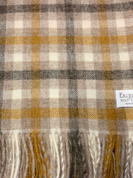 Bibury Natural 100% Shetland Throw.