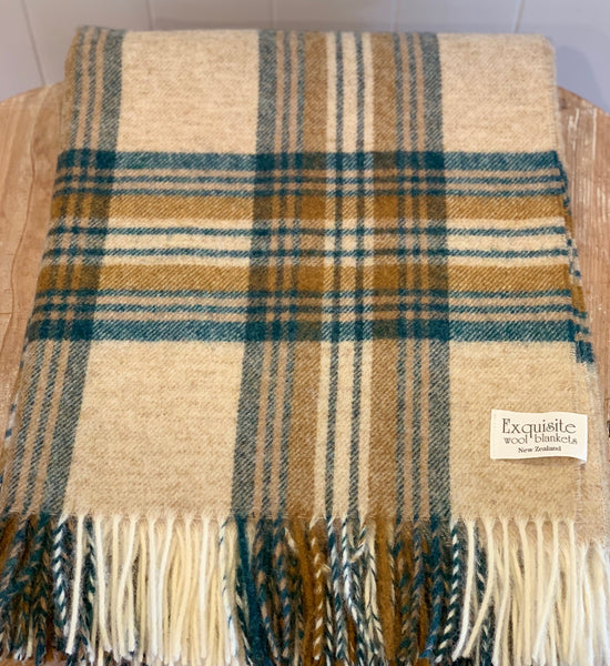 Killerton 100% Wool Throw.