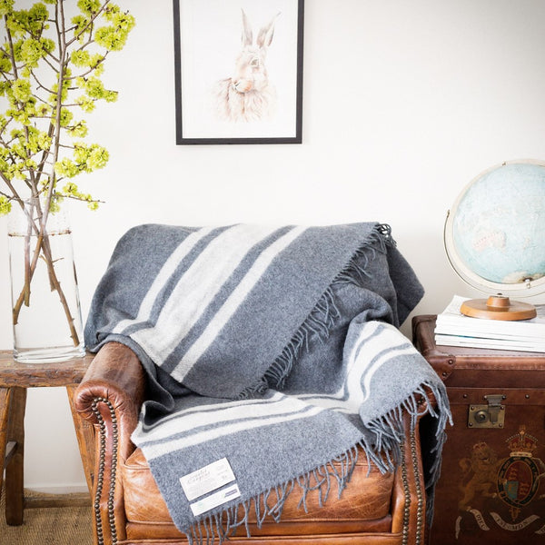 Winston Scarlet and Argent Heritage NZ Wool Throw
