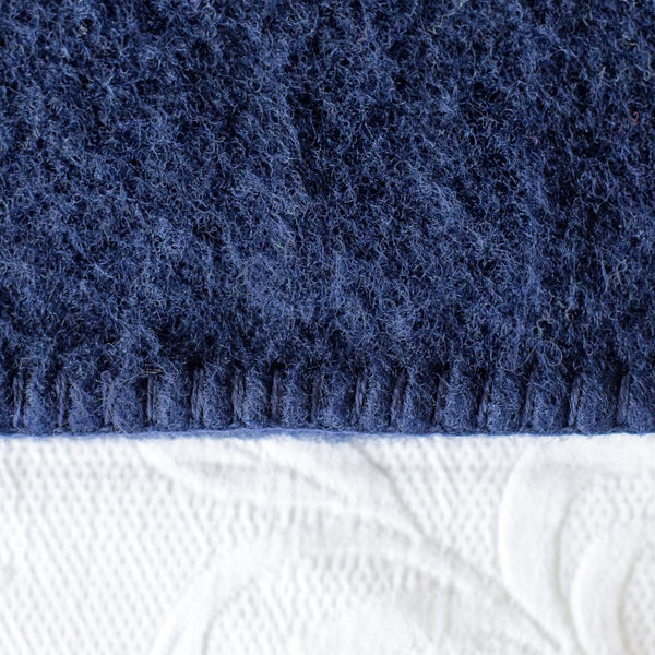 Navy Harlequin NZ Wool Blanket