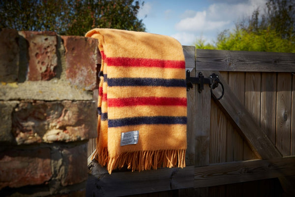 Newmarket Scarlet and Argent Heritage NZ Wool Throw