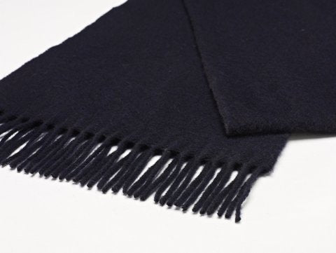 Plain Scarf 100% Merino Wool. Navy