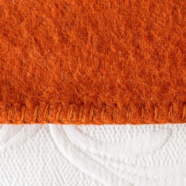 Tangerine Harlequin NZ Wool Blanket