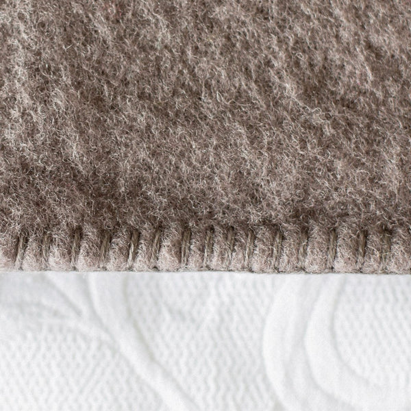 Taupe Harlequin NZ Wool Blanket