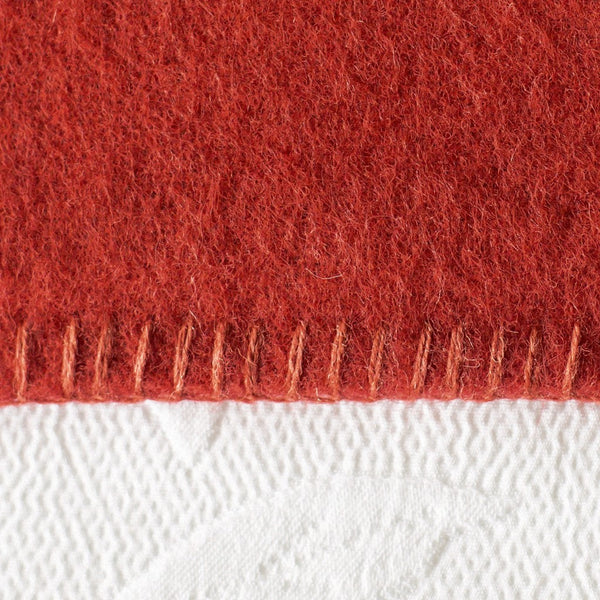 Tomato Harlequin NZ Wool Blanket