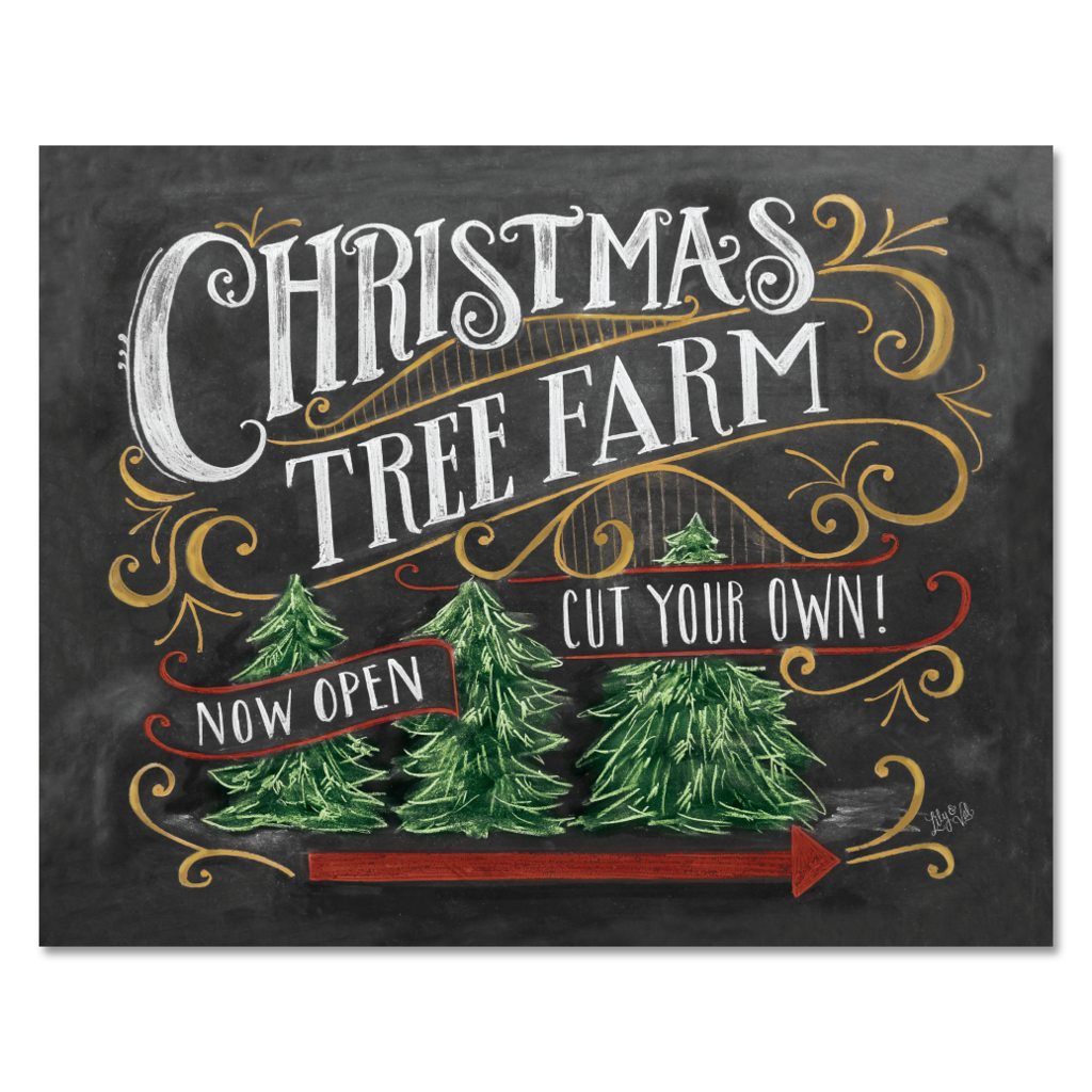 Lily and Val - Christmas Tree Farm - Print & Canvas 8 X 10Print
