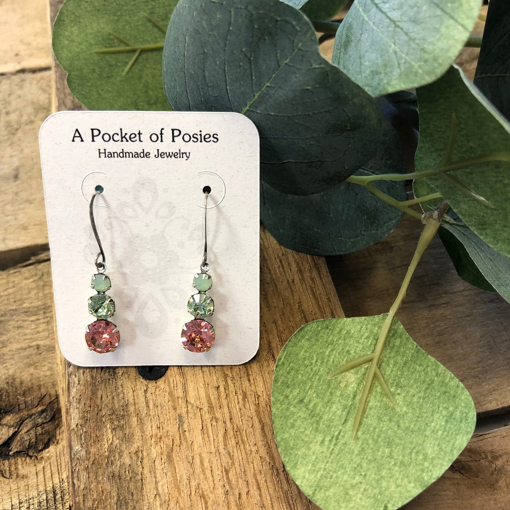 A Pocket of Posies - Glass Drop Earrings