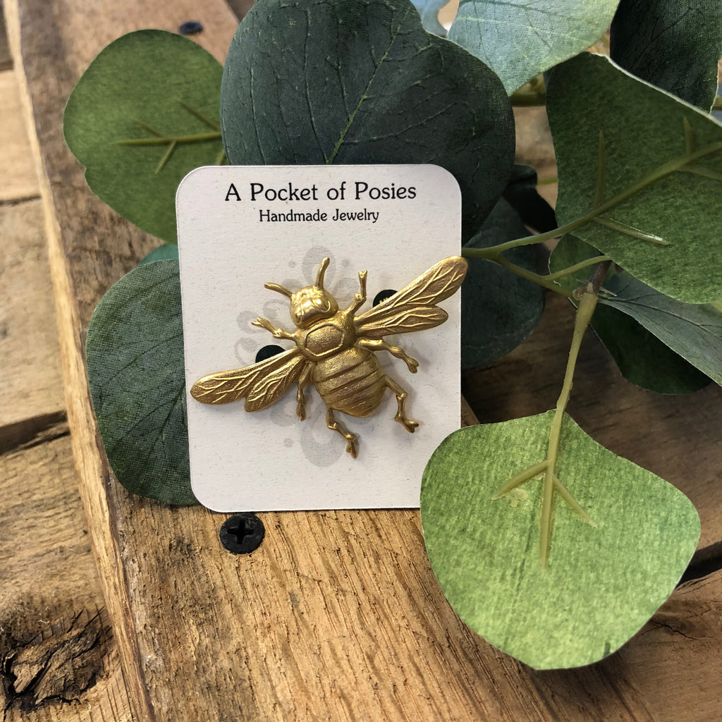 A Pocket of Posies - Honey Bee Brooch