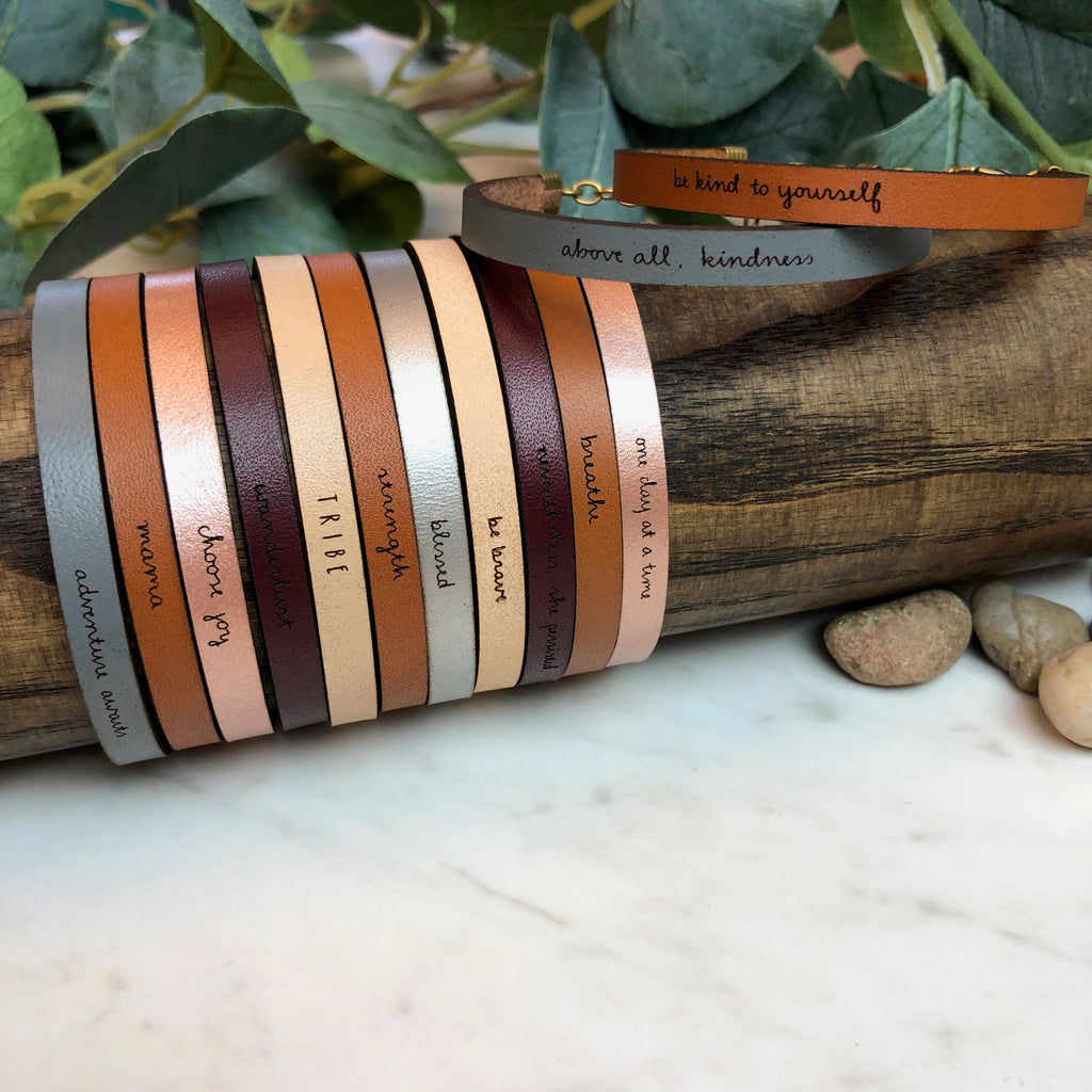 Laurel Denise - Inspirational Leather Bracelets