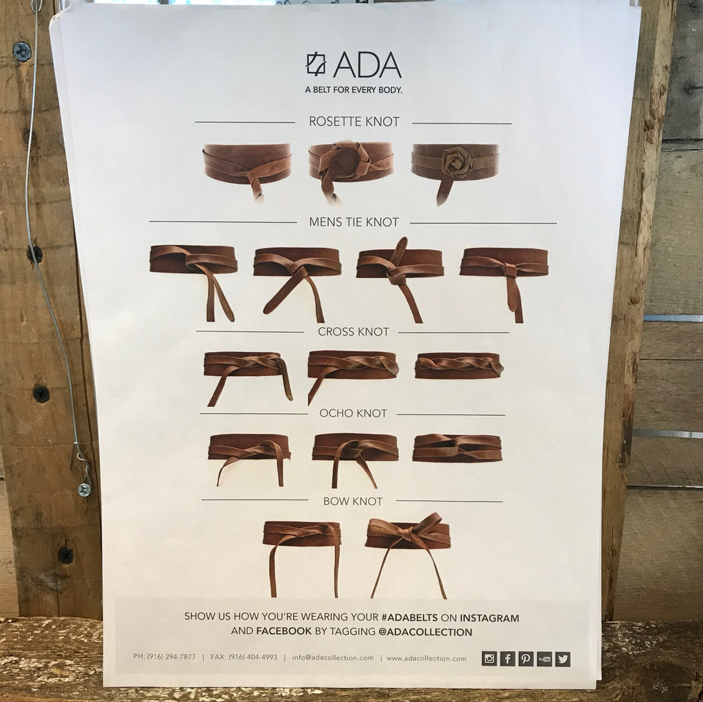 ADA Collection - Leather Belt