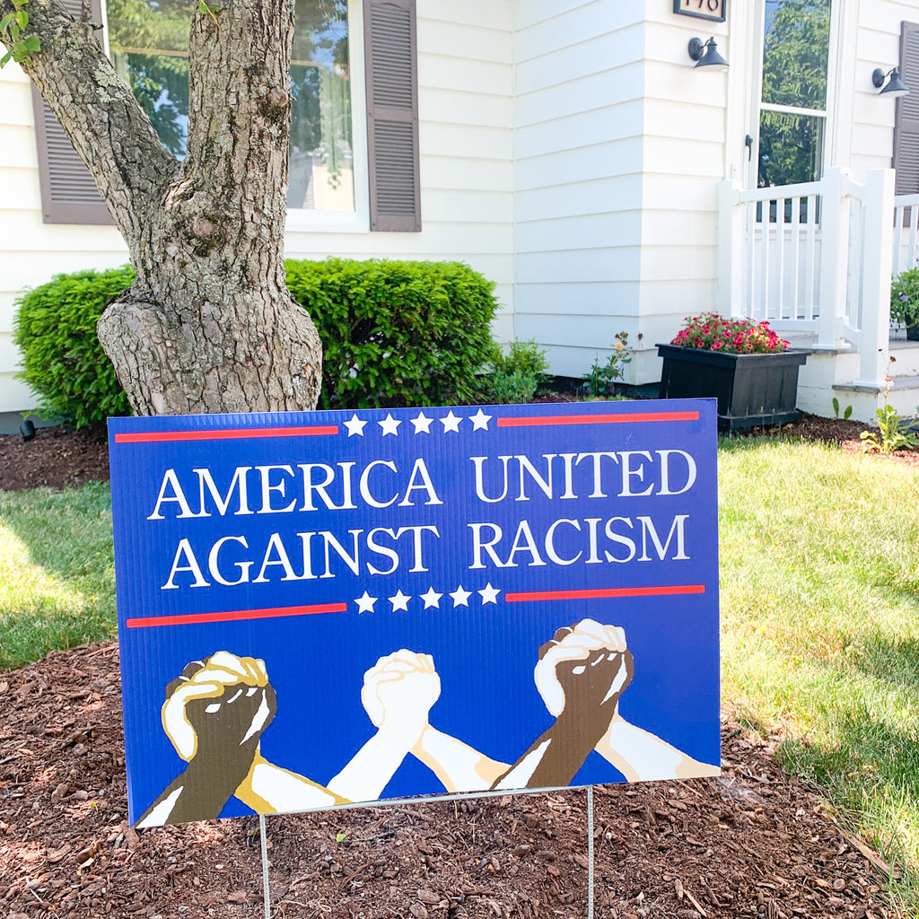 United Against Racism Lawn Sign